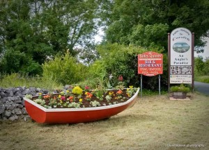 Corofin Welcome Sign & Boat